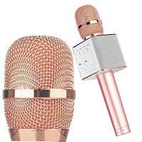 Караоке-микрофон Q9 rose-gold