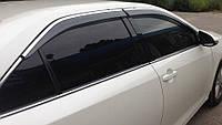 Ветровики хромированные Toyota Camry V50 SED 2012-2017 дефлекторы окон полный комплект