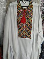 """Дуже гарна чоловіча вишиванка тканина льон """"Остап"""", фото 1"""
