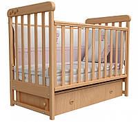 Детская кроватка Соня ЛД 12 шухляда +повздовжній маятник  (бук)