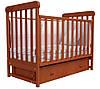Детская кроватка Соня ЛД 12 шухляда +повздовжній маятник (ольха)