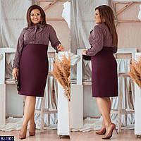 Стильное платье    (размеры 50-56) 0200-05, фото 1