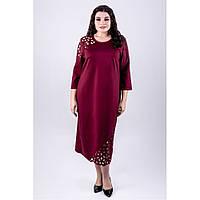 Платье комбинированное с гипюром в 3х цветах  OLS Дорис, фото 1