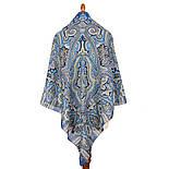 Фергана 1856-14, павлопосадский платок из вискозы с подрубкой, фото 2