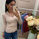 Женский стильный свитер/кофточка с молнией сверху (в расцветках), фото 2