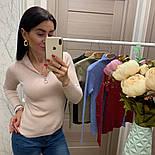 Женский стильный свитер/кофточка с молнией сверху (в расцветках), фото 4