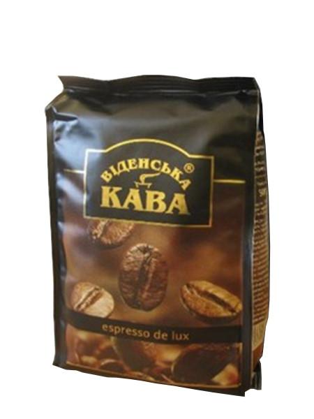 Кофе Віденська кава Espresso Delux в зернах 500 гр