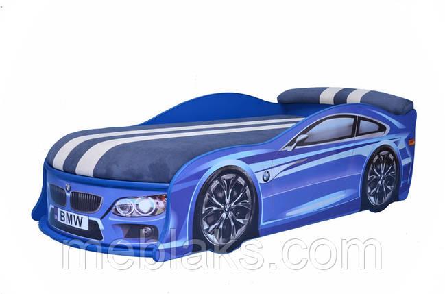 Кровать машина БМВ синяя Mebelkon, фото 2
