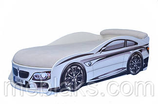 Кровать машина БМВ Белая Mebelkon, фото 3