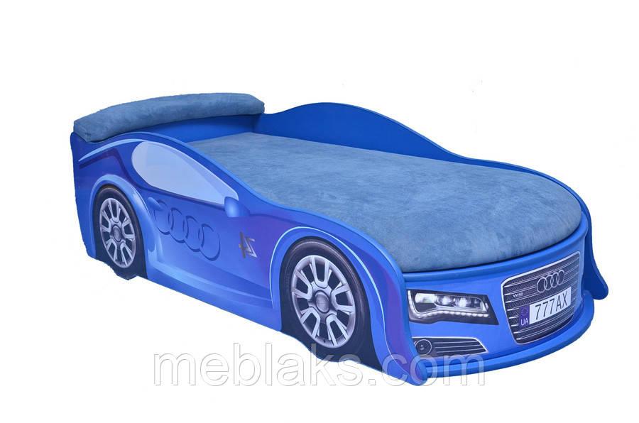 Кровать машина Ауди синяя Mebelkon