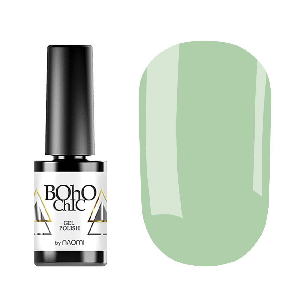 Гель-лак для ногтей Naomi Boho Chic №BC203 Плотный светлый оливковый  (эмаль) 6 мл