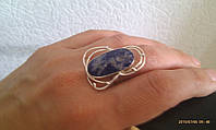 Кольцо с лазуритом  в серебре, фото 1