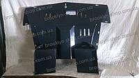 Защита двигателя Fiat Doblo 1  2001-2009  V-все боковые крылья закр.двс+кпп