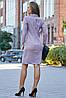 Женское деловое льняное двубортное платье (3633-3632-3634 svt), фото 4