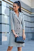 Женское деловое льняное двубортное платье (3633-3632-3634 svt), фото 2