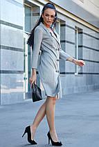 Женское деловое льняное двубортное платье (3633-3632-3634 svt), фото 3
