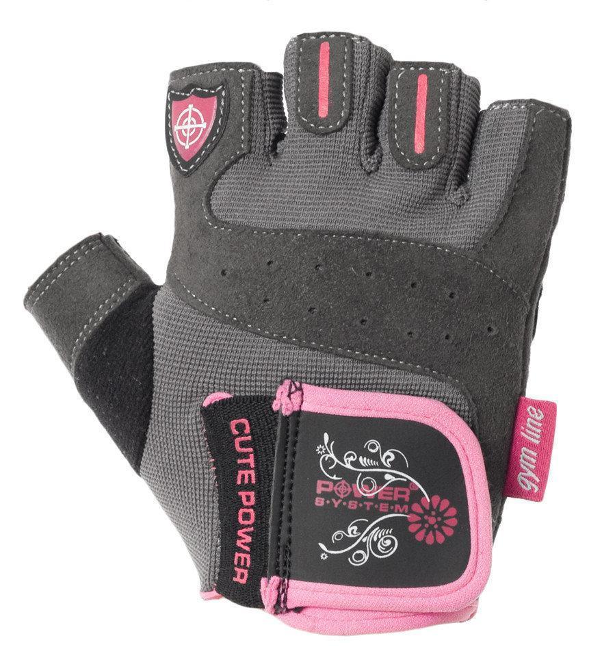 Перчатки для фитнеса и тяжелой атлетики Power System Cute Power PS-2560 женские XS Pink