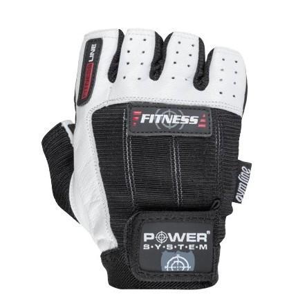 Перчатки для фитнеса и тяжелой атлетики Power System Fitness PS-2300 L Black/White