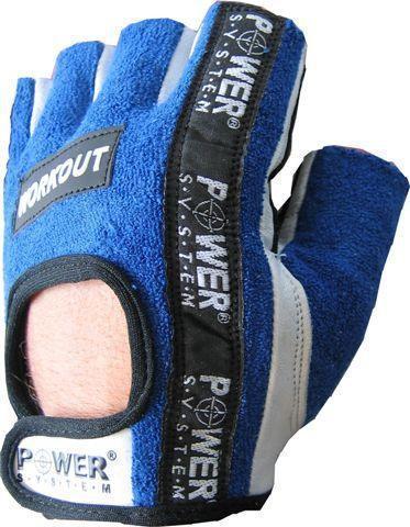 Перчатки для фитнеса и тяжелой атлетики Power System Workout PS-2200 XL Blue