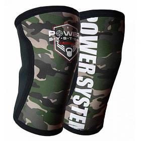 Наколенники для Crossfit Power System Knee Sleeves Camo PS-6032 L/XL Black/Green