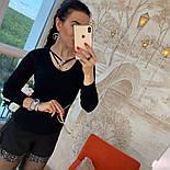 Женский стильный свитер/кофточка с украшением (в расцветках), фото 6