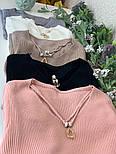 Женский стильный свитер/кофточка с украшением (в расцветках), фото 7