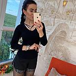Женский стильный свитер/кофточка с украшением (в расцветках), фото 8