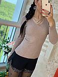 Женский стильный свитер/кофточка с украшением (в расцветках), фото 9