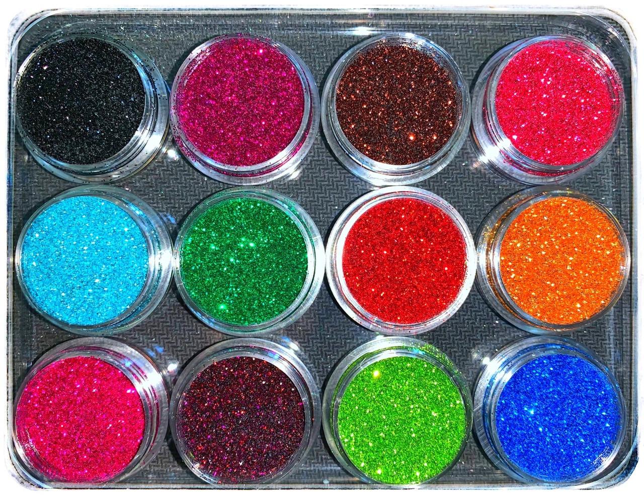 Набор Глиттеры Цветные