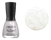 Лак для ногтей Naomi №002 Плотный перламутровый жемчужно-белый (эмаль) 12 мл