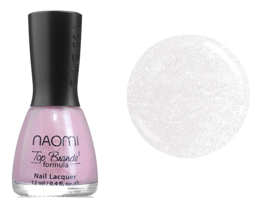 Лак для ногтей Naomi №003 Полупрозрачный перламутро-розовый 12 мл