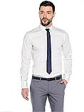 Рубашка мужская черная классическая с длинным рукавом, фото 5