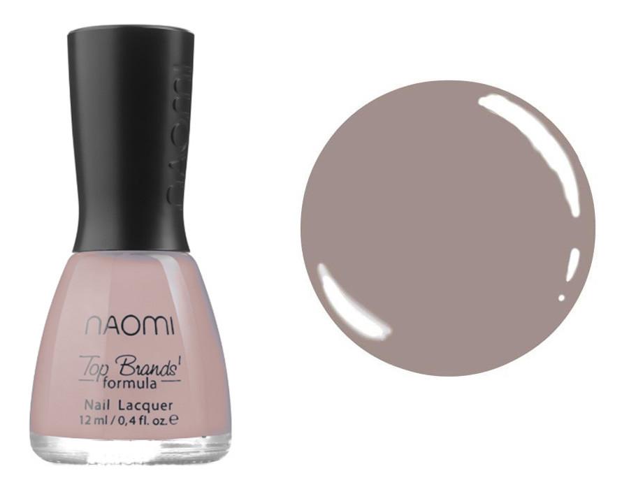 Лак для ногтей №036 Naomi Розовый с серым оттенком 12мл
