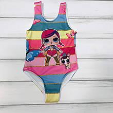 Детский купальник LOL для девочек  р.2 года
