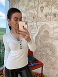 Женский стильный джемпер- кофточка с пуговицами  и люрексом (в расцветках), фото 2
