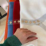 Женский стильный джемпер- кофточка с пуговицами  и люрексом (в расцветках), фото 6
