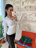 Женский стильный джемпер- кофточка с пуговицами  и люрексом (в расцветках), фото 4