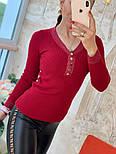 Женский стильный джемпер- кофточка с пуговицами  и люрексом (в расцветках), фото 8