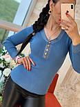Женский стильный джемпер- кофточка с пуговицами  и люрексом (в расцветках), фото 9