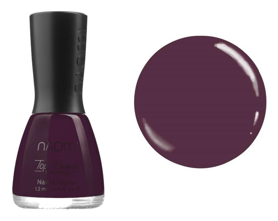Лак для ногтей №067 Naomi Темный ягодный 12мл