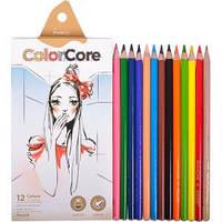 """Набор цветных карандашей 12 цв.+1 графит. MARCO """"ColorCore"""" 3130-12"""