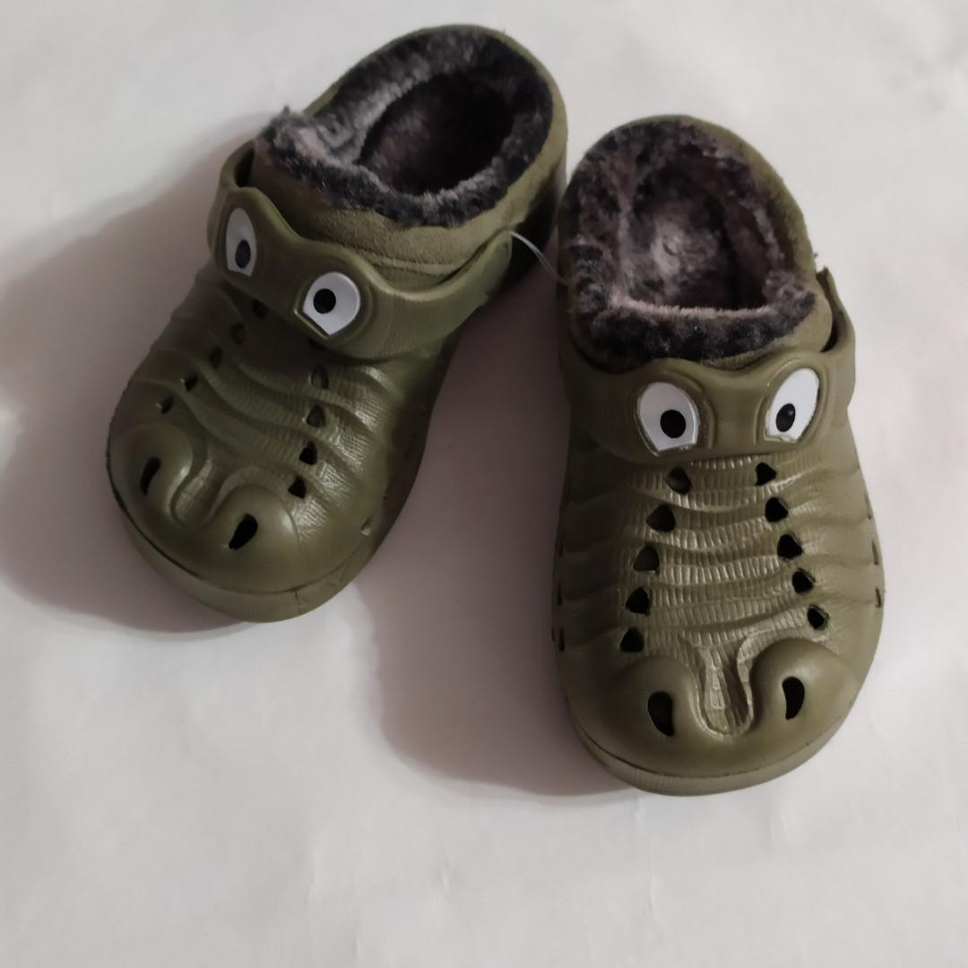 Кроксы хаки крокодилы разм.26