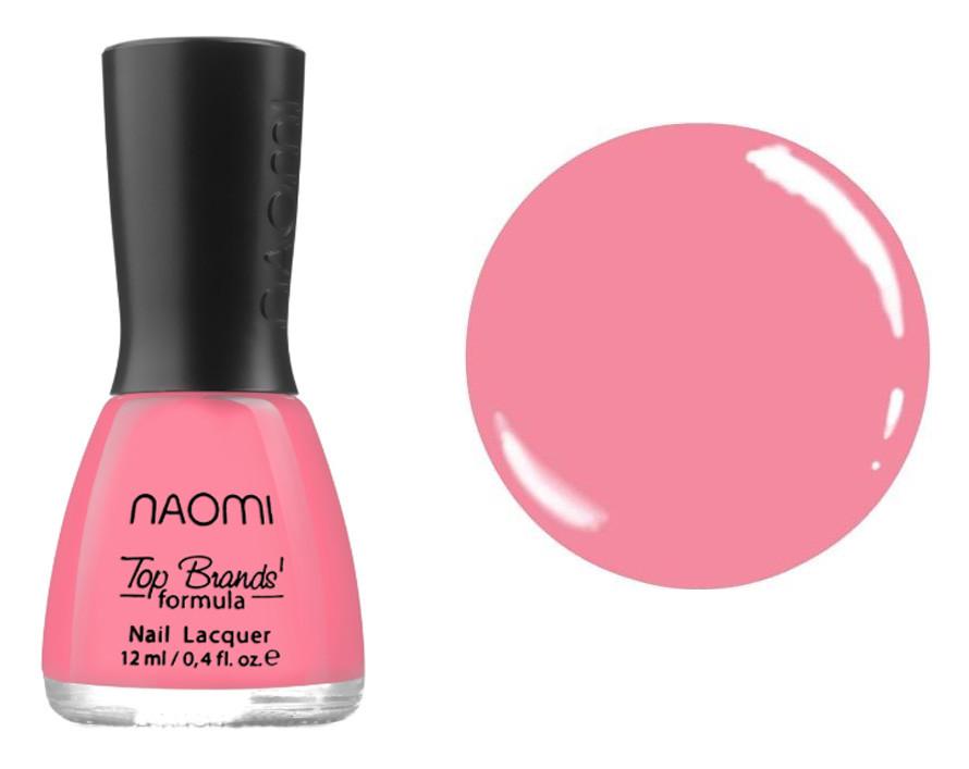 Лак для ногтей №099 Naomi Розовый с персиковым оттенком 12мл