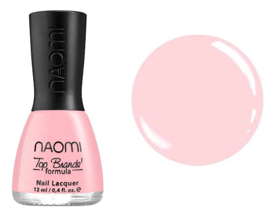 Лак для ногтей №102 Naomi Полупрозрачный коралловый 12мл