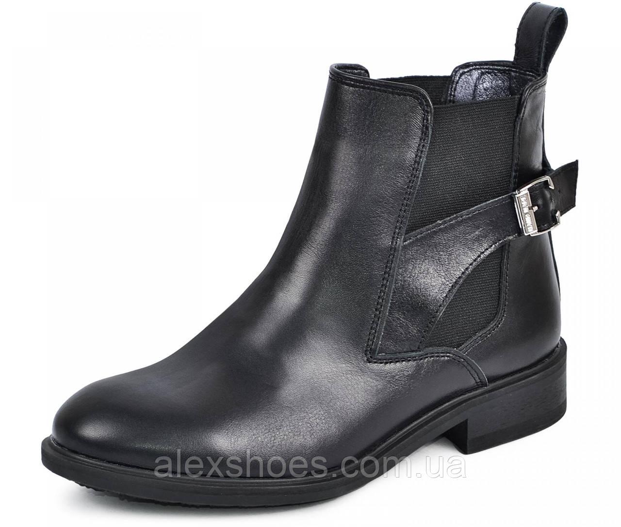 Ботинки демисезонные на низком каблучке из натуральной кожи от производителя модель МАК951