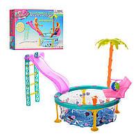 Детская мебель для кукол Gloria 1678 Бассейн с горкой