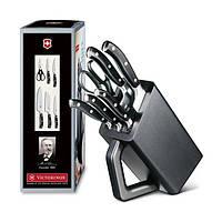 Набор кухонный Victorinox Forged Сhef's Grand Maitre Cutlery Block 6шт с черн. ручкой с подставкой (5 ножей, но