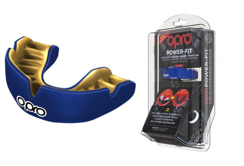 Капа OPRO Power-Fit Single Series Dark Blue/Gold (art.002268005)