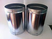 Трубы дымоходные из оцинковки 0,6 мм Ø310 (одностенные) 2 шт. , фото 1