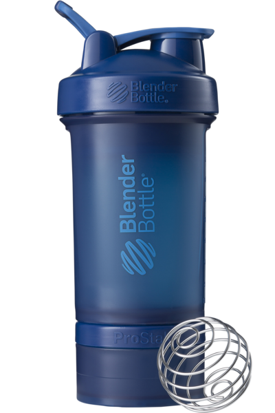 Шейкер спортивный BlenderBottle ProStak 650ml с 2-мя контейнерами Navy (ORIGINAL)